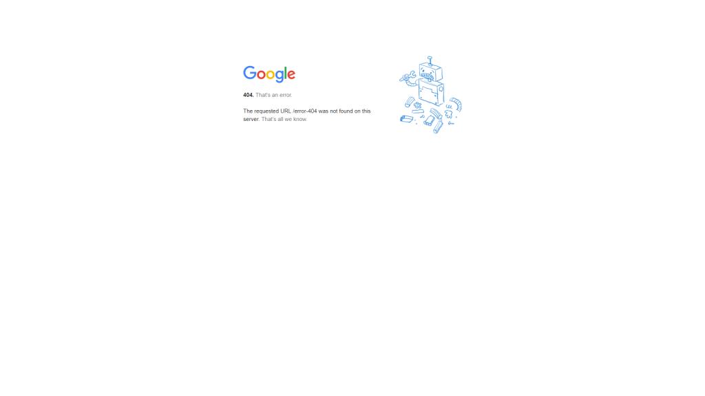 Erro 404 do Google.com.br